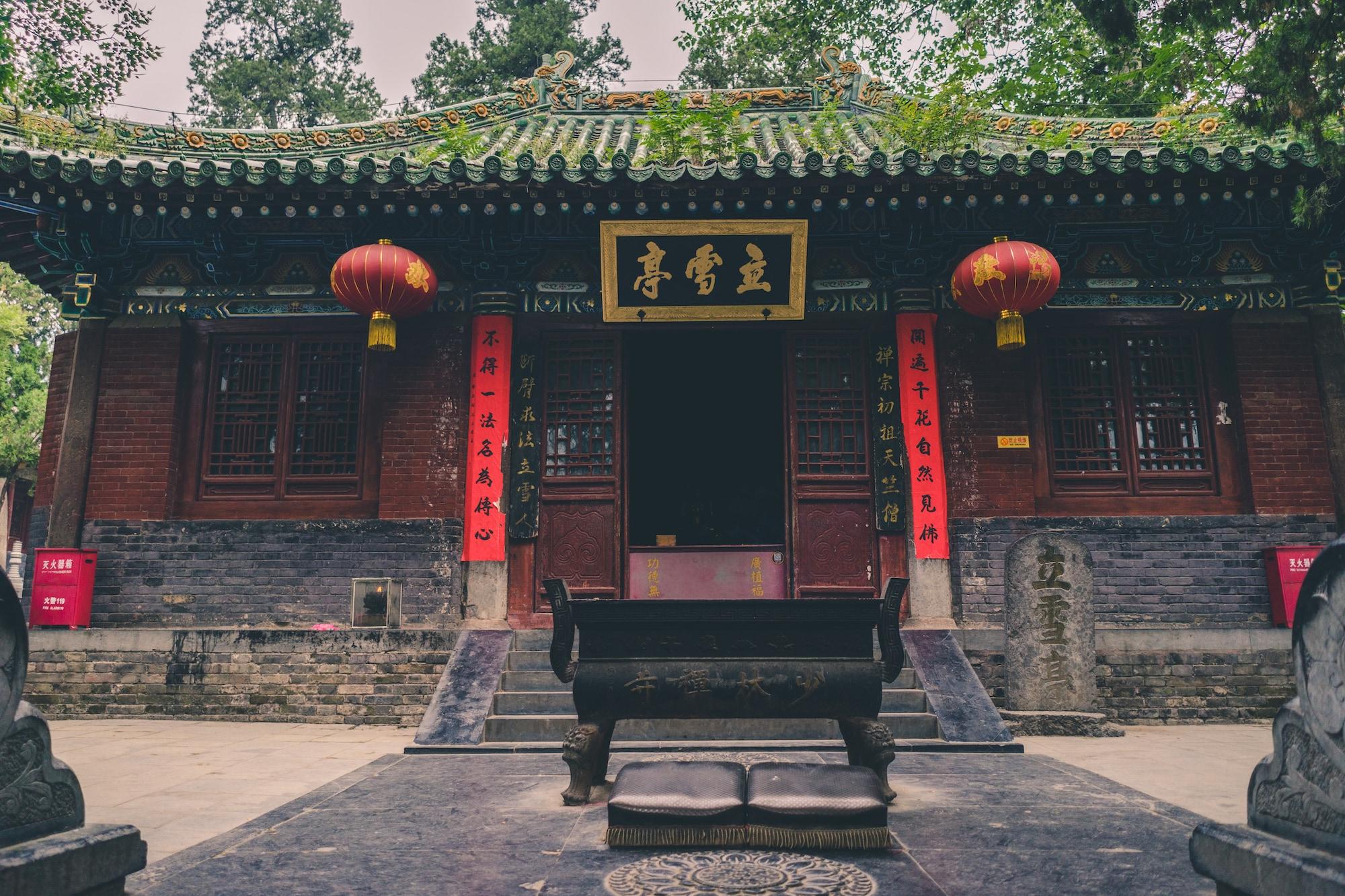 Nel primo tempio Shaolin in Cina