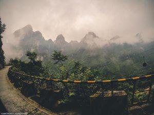 La strada al monte Tianmen