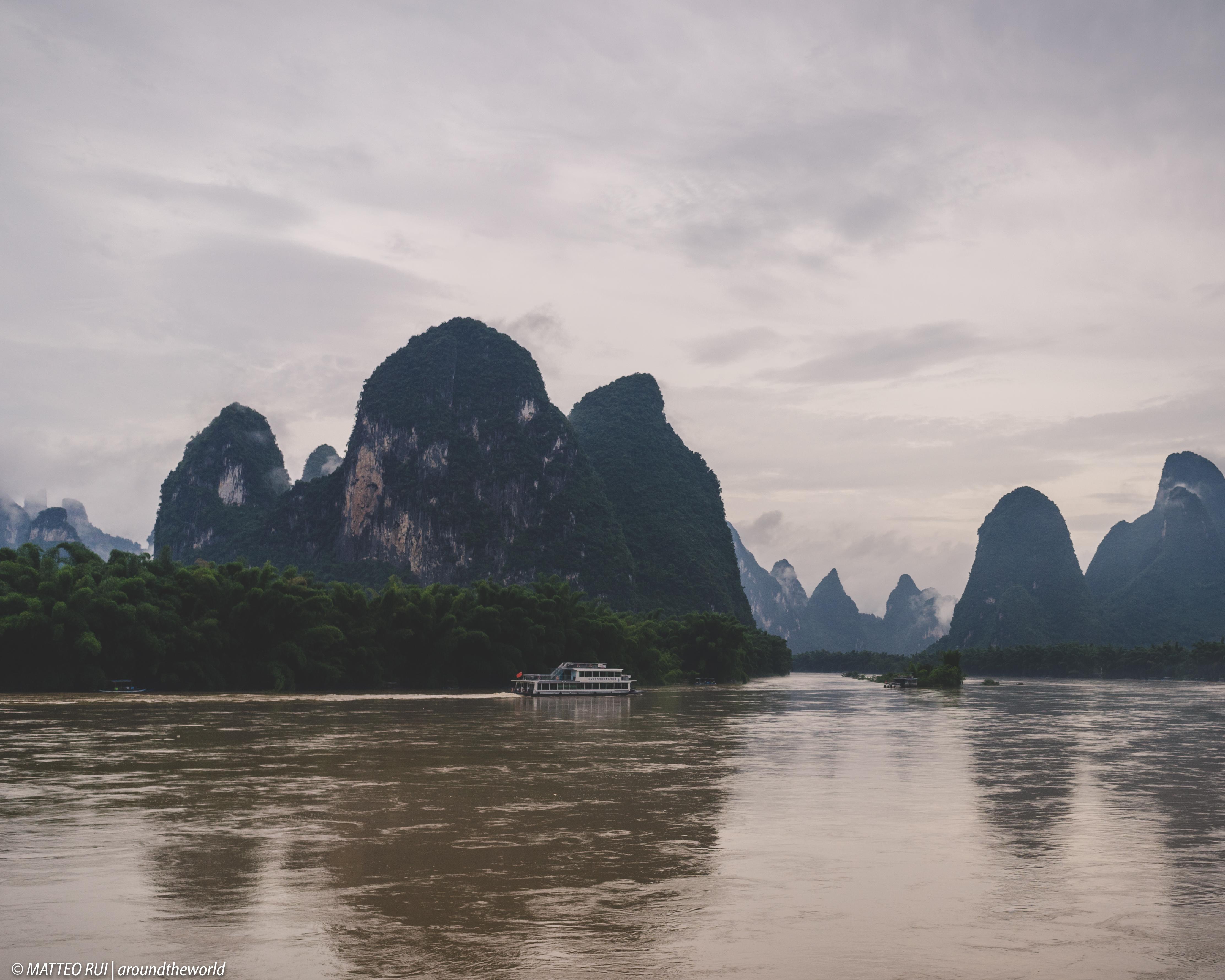 Fiumi di strade lungo il Li River